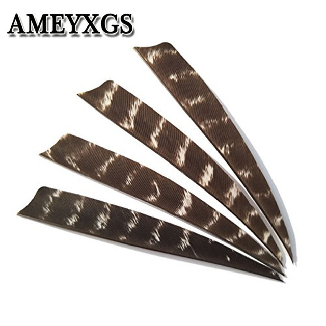 """50Pcs Archery Arrow Feathers Fletches 5"""" Natural Turkey Fletching Vanes Right Wing Arrow DIY Tools Hunting Shooting Accessories"""