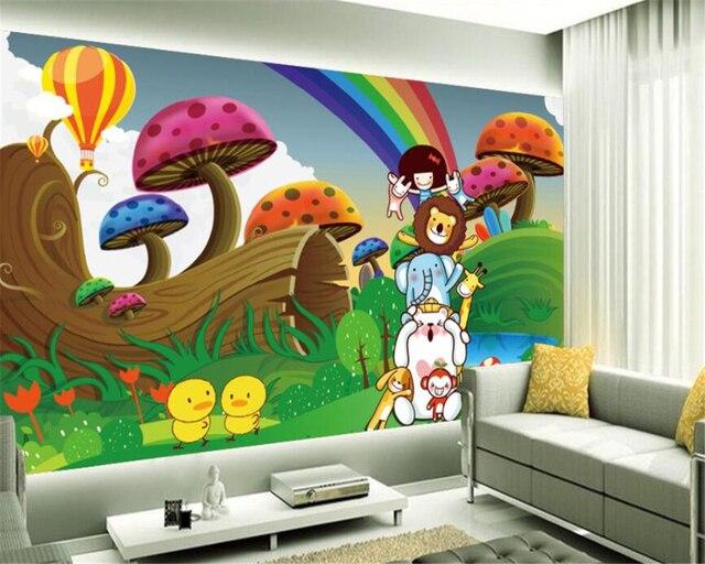Beibehang Tk Anak Anak Kamar Dekorasi Wallpaper Kartun Langit