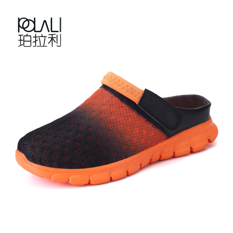 POLALI Big Size 36-46 Men Aqua Shoes Summer Breathable Male Beach Sport Walking Sneakers  Mesh Lighted Unisex Shoes