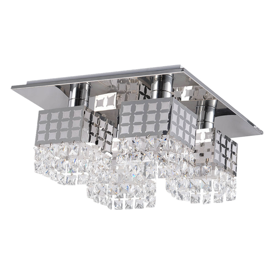 Modern Crystal Chandelier Ceiling Lamp Pendant Modern Contemporary with 4 LightsModern Crystal Chandelier Ceiling Lamp Pendant Modern Contemporary with 4 Lights