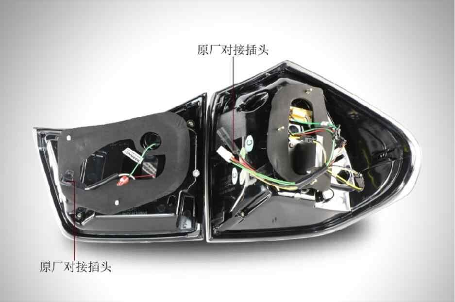 2004 ~ 2009 Lexu RX330 taillight, LED, RX350 Lexu RX330 taillight, akcesoria samochodowe, tylna lampa RX350, wyświetlanie wideo, RX330 światło przeciwmgielne
