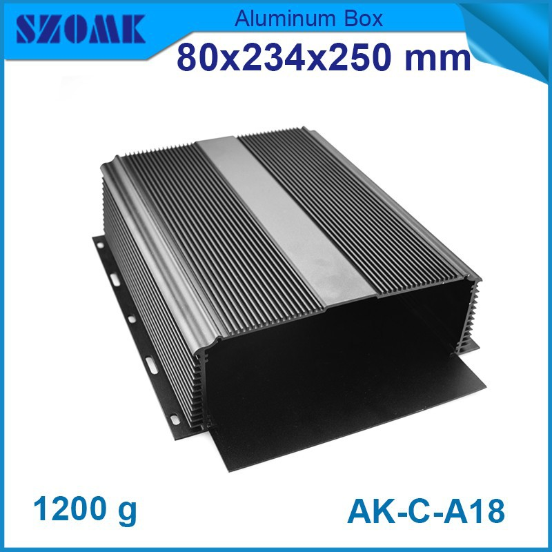 10 pcs/lot aluminum die casing housing in black color oxey Anodization box 80(H)x234(W)x250(L) mm humidity sensor box 1 piece free shipping wire drawing black color 45 h x152 w x200 l mm aluminium junction box manufactures in china