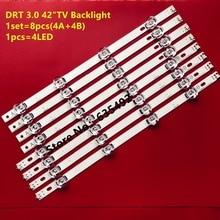 """led 백라이트 screen1set = 8 조각 1pcs = 4led LED 스트립 LG INNOTEK DRT 3.0 42 """"_A / B TYPE REV01 제품은 그림과 동일"""