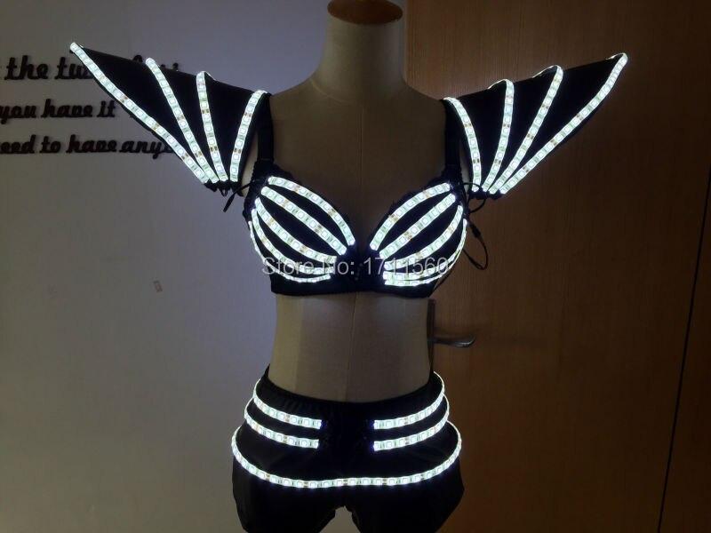 LED-kostym / LED-scenkläder / Lysande kostym / LED-balettdräktfest / mottagningsdukar