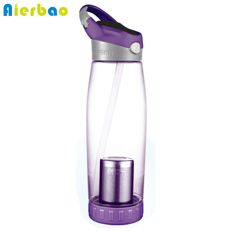 800ml Sports Water Bottle With Straw Portable Tea Infuser Bottle Plastic BPA Free Gym Large Capacity Drinking Bottles