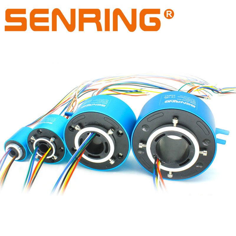 Through Hole Slip Ring 2/6/12/18/24 Channels 2A/5A/10A Current Slipring Hollow Rotate Connector Hole 8-100mm Conductive Rings