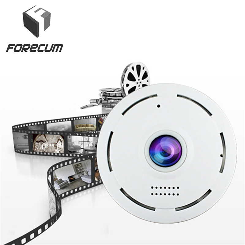 FORECUM 360 Degree VR Panorama Camera 960P 1080P Wireless WIFI IP Camera Home Security Video Surveillance System Camera Webcam 1280 1024 28fps 360 vr camera full panorama digital video camera with 190 degree wide angle free shipping