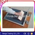 SS Dobradiça Grampo para Material De Impressão Da Tela Borboleta Grampo Clipe Duas Peças Clipe