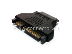 CYSM SATA 22Pin Male to Slimline SATA 13pin Female Convertor Adapter image