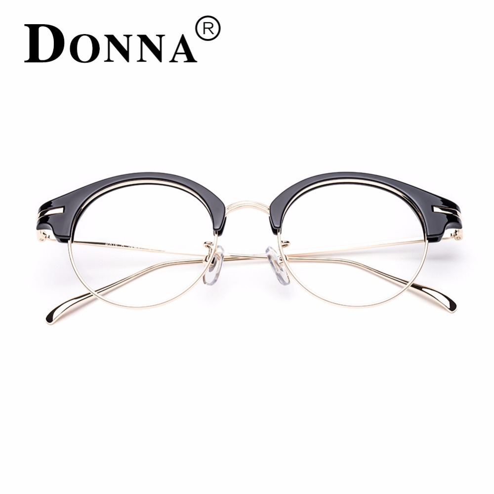 Donna Klassische Retro Klare Linse Nerd Rahmen Gläser Mode marke ...
