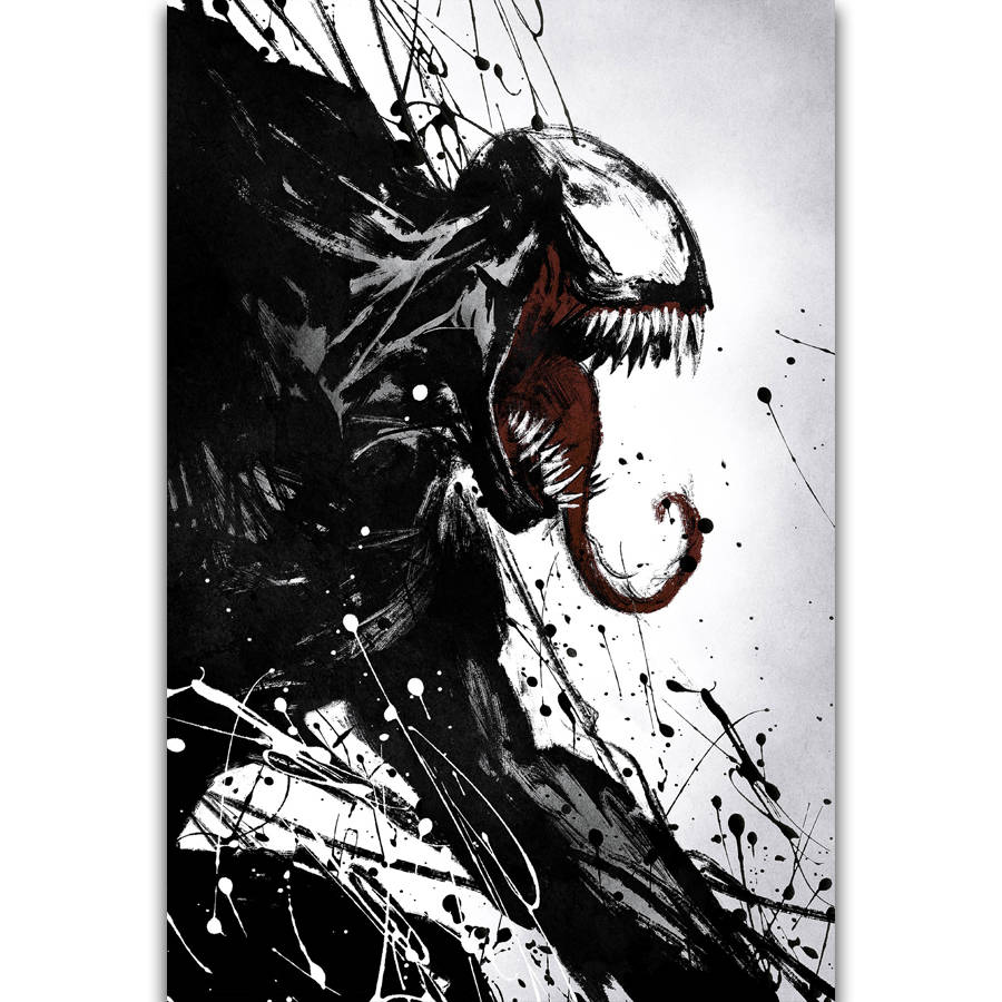 Venom Movie Tom Hardy Marvel Comics Wall Art Painting