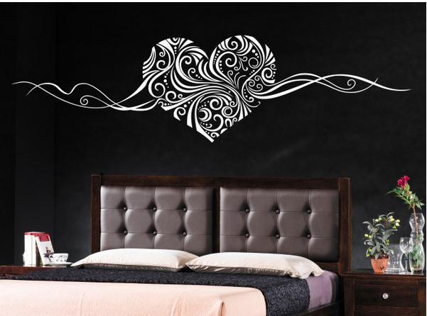 Finised Размеры 157*42 см Романтический Сердце настенные наклейки Home Decor Wall Art Любовь Свадебные украшения семейные наклейки