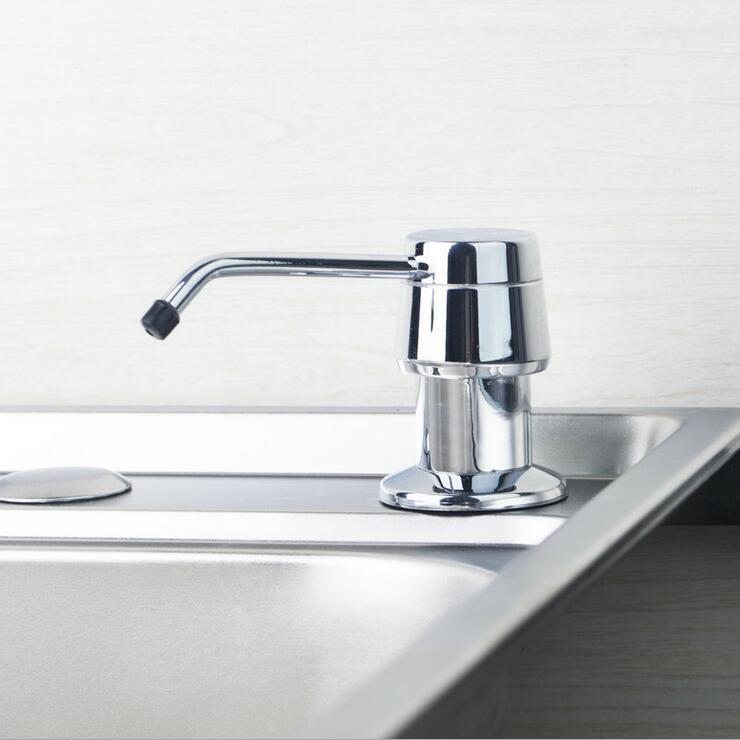 Kitchen Sink Hand Soap Dispenser: Stainless Steel Dish Basin Liquid Soap Dispenser, Kitchen