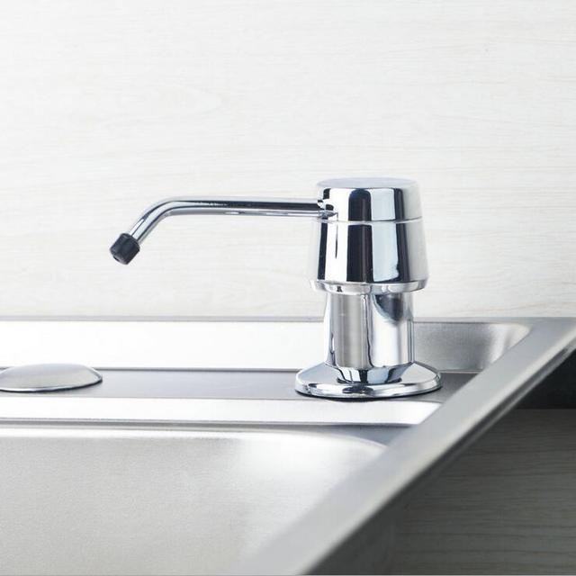 Stainless Steel Dish Basin Liquid Soap Dispenser, Kitchen Sink Liquid Soap  Dispenser, Hotel Hand