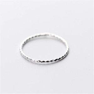 New Fashion 925 Silver 1MM Wide Face Simple Gear Shape Thin HK Size Ring Size For HongKong Trend Women Jewelry Ring Sale(China)