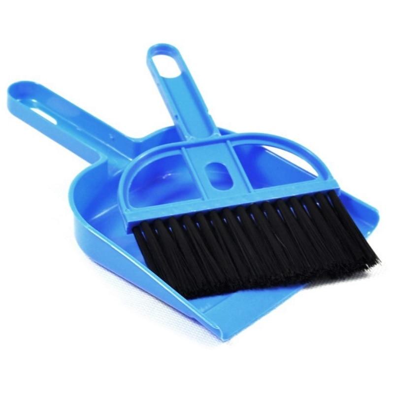 Children Mini Plastic Broom Dustpan Toys Kids Pretend Play House Cleaning Toy Daily Life Education Games Preschool Teaching Aid