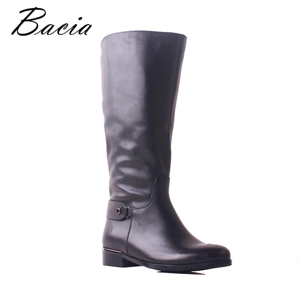 Bacia Новые сапоги до колена из натуральной кожи, женские сапоги из мягкой  воловьей кожи 2f19e46c4ce