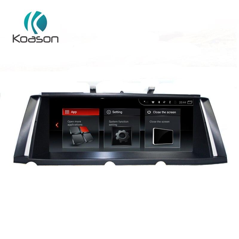 Koason 10,25 pulgadas IPS pantalla Android 7,1 sistema de Audio de coche reproductor Multimedia para BMW serie 7 F01 CIC 2009- 2012 GPS de navegación