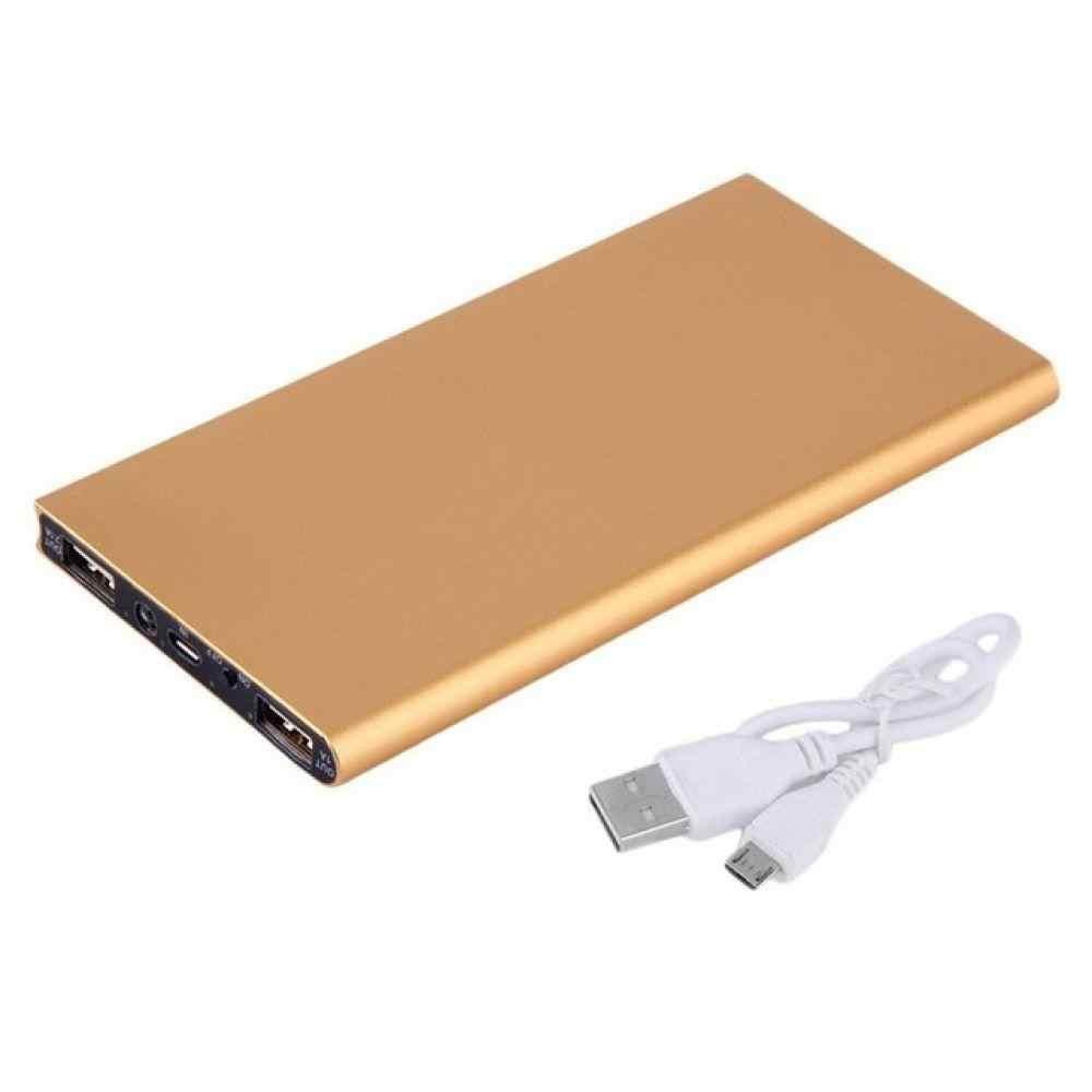 رقيقة جدا 30000mAh المحمولة اثنين USB شاحن بطارية خارجي قوة البنك ل شاومي آيفون هاتف محمول تصميم منافذ الإخراج