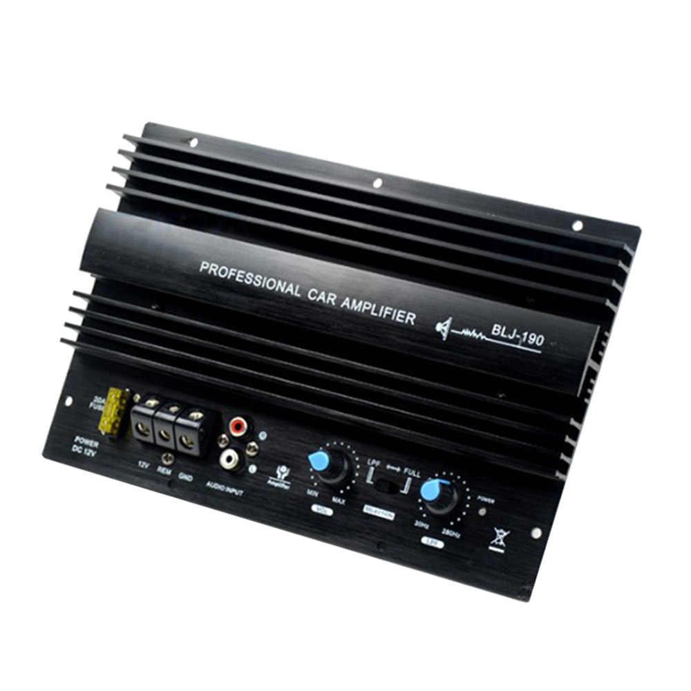 12 В 1000 Вт Мощный Бас Сабвуфер 105dBA моно автомобильный аудио усилитель высокой мощности усилительная плата тепловой перегрузки Защита мощности ful Bass