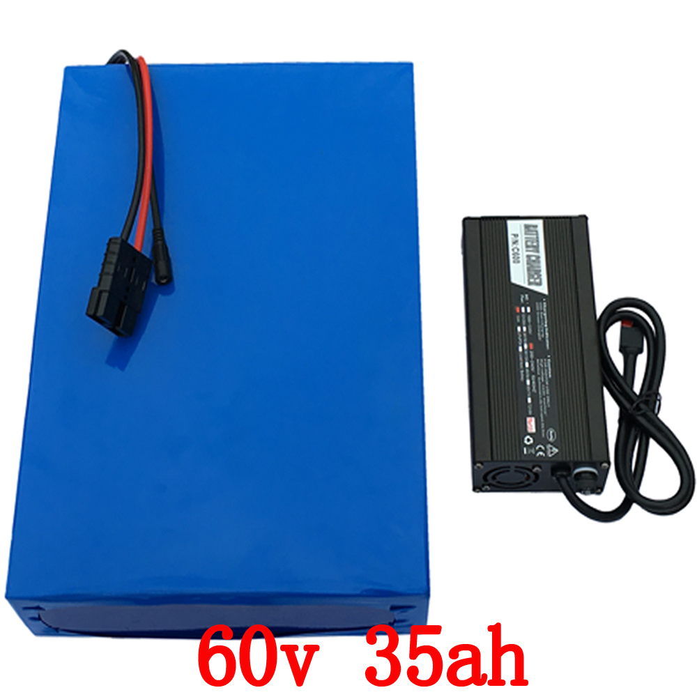 60V Lithium Battery 60V 35AH Scooter Battery 60V 35AH 2000W 2500W Electric Bicycle Battery with 50A BMS+67.2 5A charger