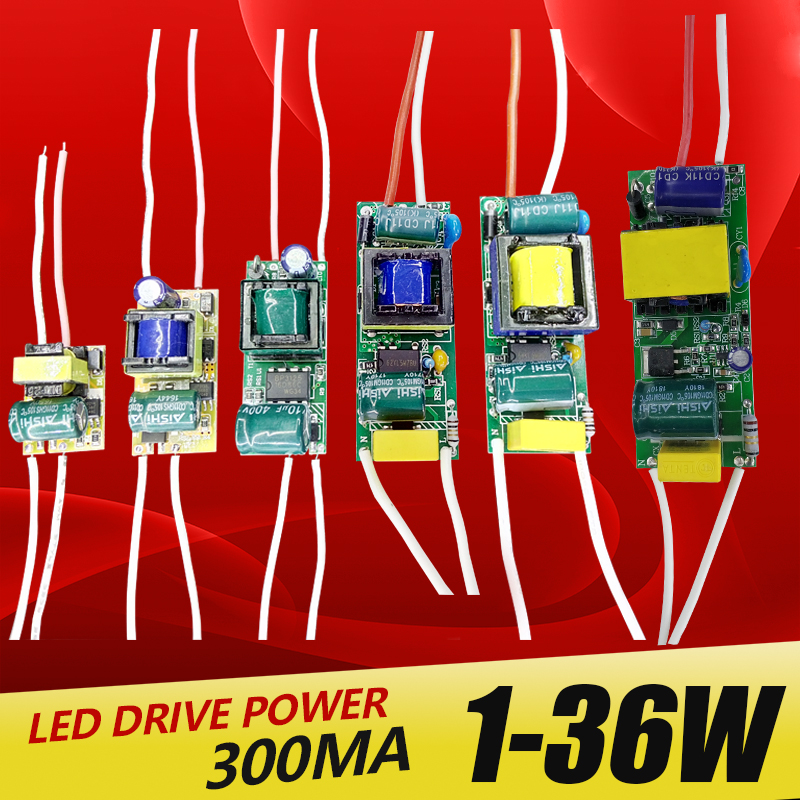 1-3W,4-7W,8-12W,15-18W,20-24W,25-36W LED driver power supply built-in constant current Lighting 110-265V Output 300mA Transforme 2015 redutores de medidas tv with the genuine chen tan teacher relief oil thin body fat doctor lotus leaf tea seven waist soup