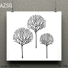 AZSG Three trees Clear Stamps/seal for DIY Scrapbooking/Card Making/Photo Album Decoration Supplies
