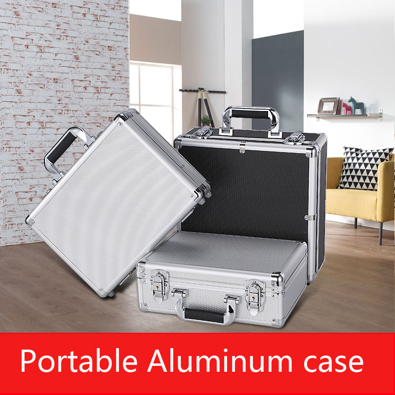 Waterproof Aluminium Tool Case 330*240*120MM Tool And File Storage Hard Carry Tool Box Hand Gun Locking Pistol With Foam Lining