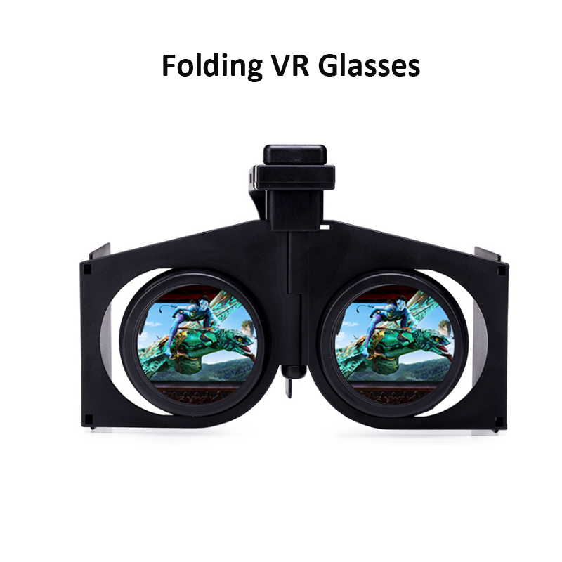 V1 VR Glasse Portable Foldable VR Virtual Reality 3D Glasses Movies Games for Android iOS
