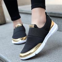 Fashion Plus Size Autumn Women Shoes Ladies Spring Air Mesh Slip On Women Flats Female Walking Outdoor Footwear CJ98
