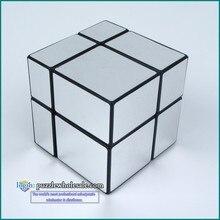 Nouveau FangGe Mir-Deux 2×2 Miroir Cube 2x2x2 Mitu Cast Couché Magic Cube argent/Or