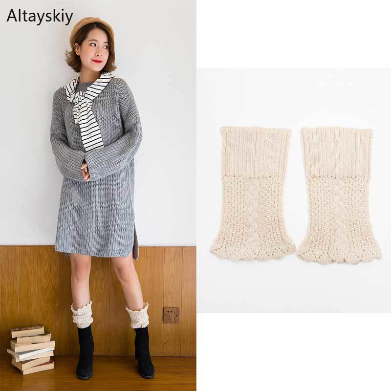 Knee Sleeve Women Autumn Soft Solid All-match Womens 2020 Simple Chic Comfortable Korean Style High Quality Thin Leisure Slim