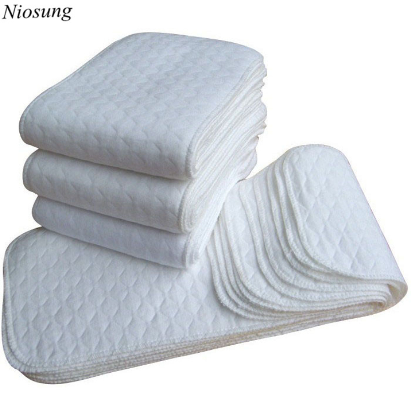 Niosung New 10 Pcs Baby Cotton Washable Reusable Soft Cloth Diaper infants Soft Cloth Inserts breathable care accessories