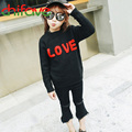 chifave 2016 Kids girls Clothing Autumn Winter New Fashion Style O-neck Collar Letter Love Pattern Pullover Baby Girls Sweater