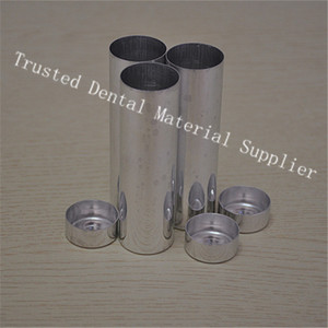 Image 5 - 200 Pieces/lot OD 25 MM Dental Lab Materials Empty Cartridges Making Dentures Teeth Mold Dental Empty Aluminum Tubes With Cover