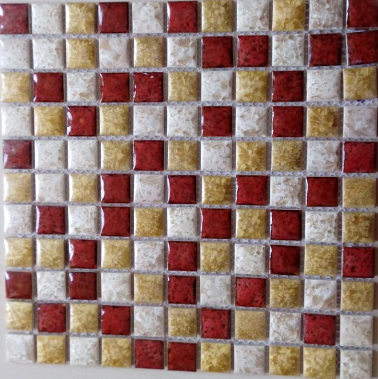 Square Ceramic Pebble Mosaic Tile