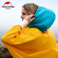 Naturehike Portable Windproof Raincoat Ultralight Camping Hiking Poncho Rainproof Coat With Backpack Unisex Outdoor Rain Cover