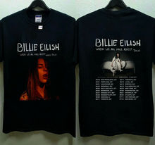 Billie Eilish World Tour 2019 with Special Guest DENZEL CURRY T-Shirt Size S-3XL Summer Short Sleeves Cotton Fashiont T Shirt цена