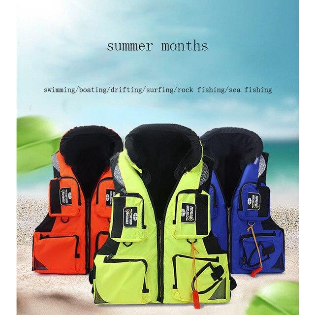 Высококачественные мужские и женские Светоотражающие дышащие быстросохнущие спасательные жилеты для спорта на открытом воздухе, рыболовн...