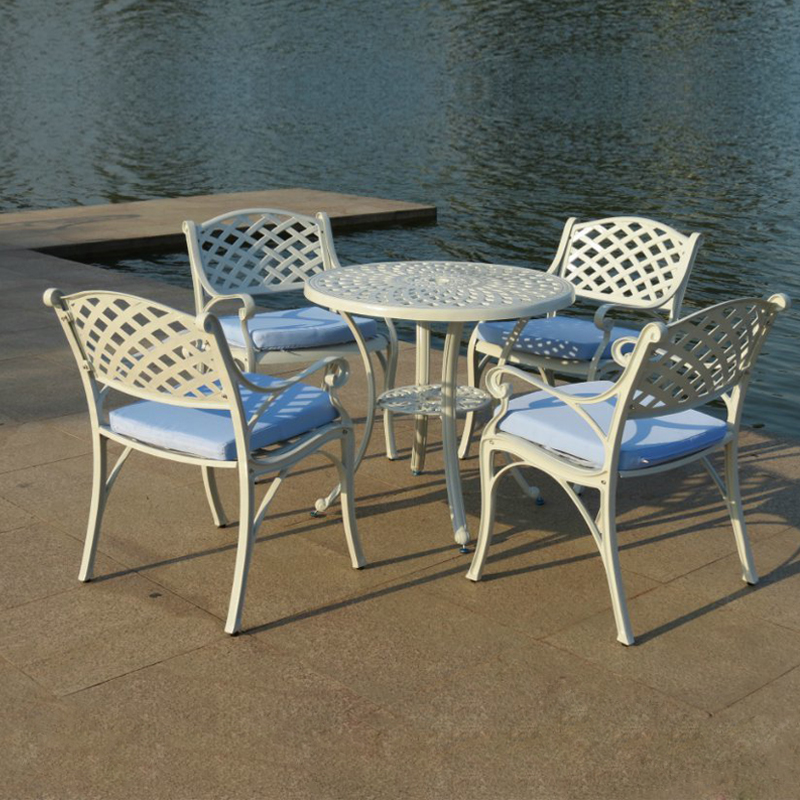 5-piece cast aluminum patio furniture garden furniture Outdoor furniture fashion design for bar clubs 5 piece cast aluminum patio furniture garden furniture outdoor furniture