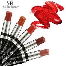 MUSIC ROSE Brand Professional Lips Makeup Waterproof Long Lasting Pigment Nude Red Matte Lipstick Luxury Cosmetics
