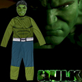 New Kids Marvel Avengers Basic Incredible Hulk Fancy dress, Boy's superhero jumpsuit halloween fantasia costume, 4-6years
