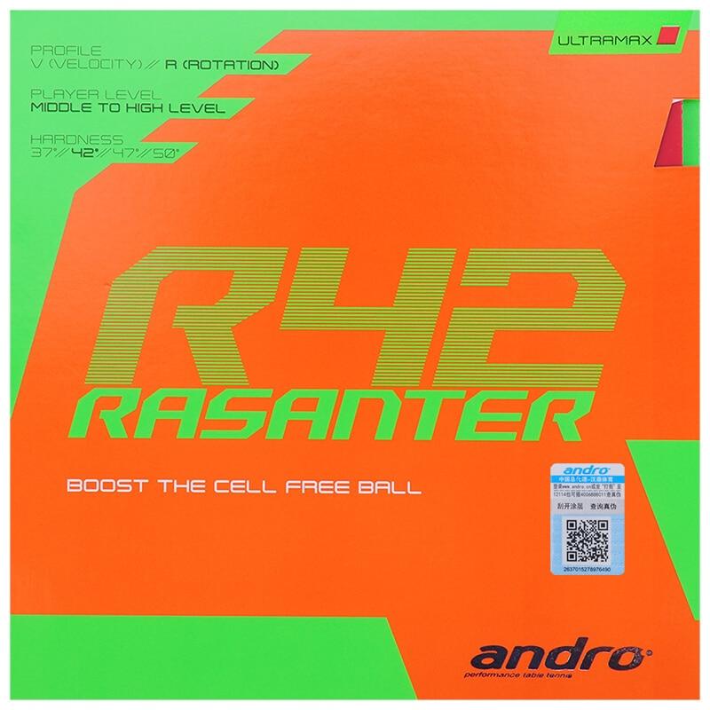 Andro RASANTER R42 (Non-tacky Rubber, Tensor Sponge) Table Tennis Rubber Pips-In Ping Pong Sponge Tenis De Mesa