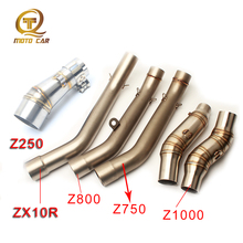 Motorcycle Exhaust Connect Link Pipe Mid Tube Escape Moto Adapter Muffler 51MM DB Killer for Kawasaki Z800 Z750 ZX10R Z1000 Z250 все цены
