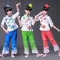 Nuevo Diseño de Los Niños Traje de la Danza Niña Yangko Nacional Chino Traje de la Danza Popular Chino Traje de Etapa Perfoamce Ropa
