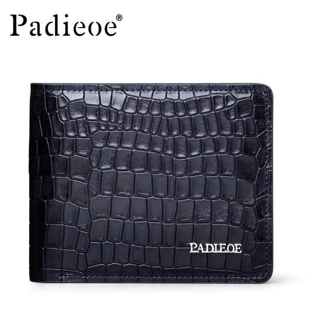 Crocodile pattern 100% Genuine leather wallets New Arrival business leisure purse designer wallets famous brand men wallet 2016