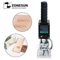 ZONESUN 8*10cm 500W Handheld leather skin wood paper embossing tool hot stamping machine tool manual logo embosser branding iron