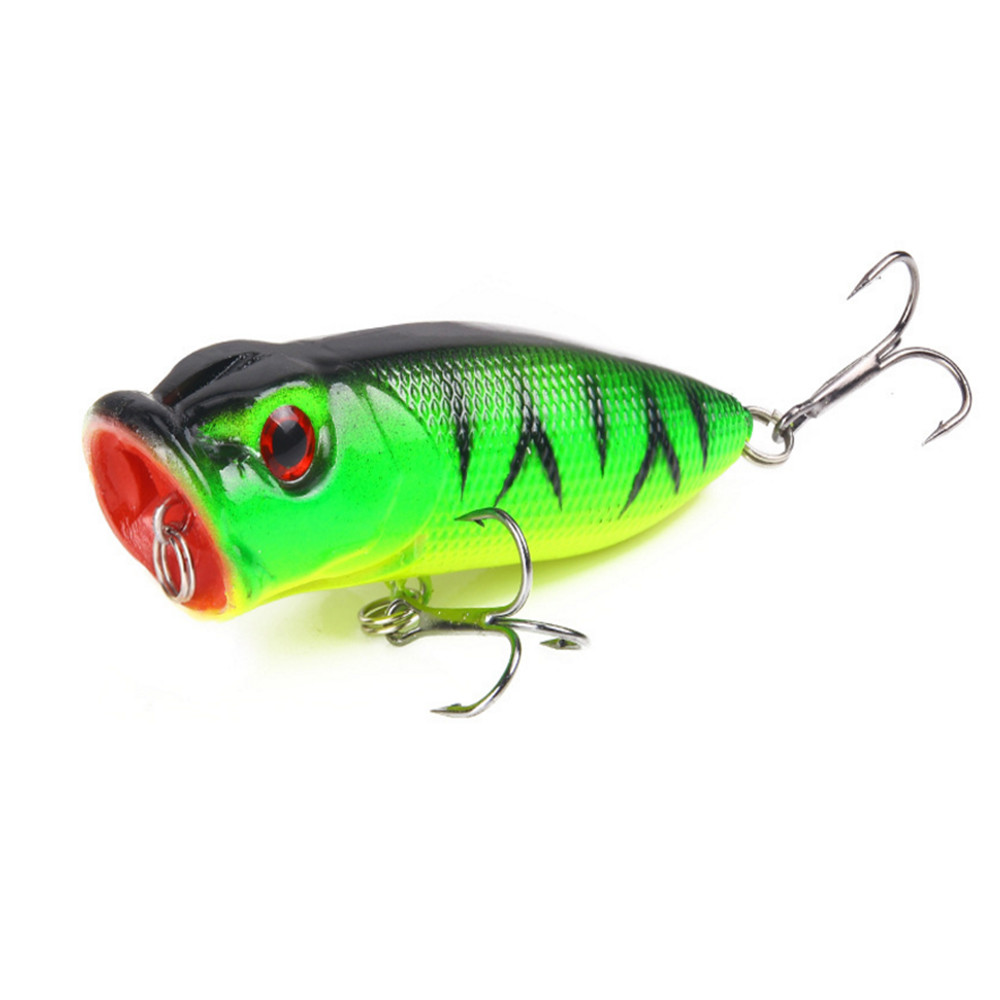 1Pcs 6.5 cm 11.8g Top Water Fishing Lures 3D Eyes Hard Popper Lure Crankbait Bass Wobblers With 6# Hooks Fishing Tackle 1pcs 6 5 cm 11 8g top water fishing lures 3d eyes hard popper lure crankbait bass wobblers with 6 hooks fishing tackle