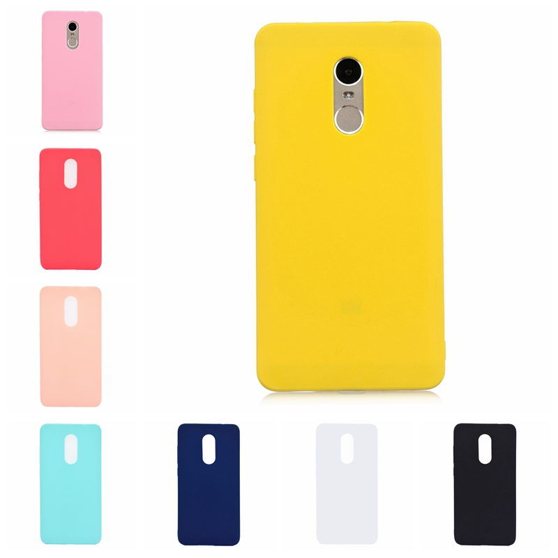 For Xiaomi <font><b>Redmi</b></font> <font><b>Note</b></font> 4 <font><b>Case</b></font> Soft Silicone Candy Color Phone <font><b>Case</b></font> For <font><b>Xiomi</b></font> <font><b>Redmi</b></font> <font><b>Note</b></font> <font><b>4X</b></font> Back Cover Fundas <font><b>Redmi</b></font> <font><b>Note</b></font> 4 <font><b>Case</b></font> image