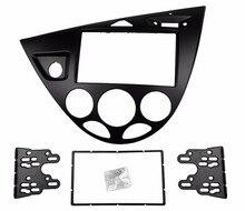 Двойной Дин стерео Панель для Ford Focus Fiesta фасции Радио и установка тире Установка отделка комплект Уход за кожей лица